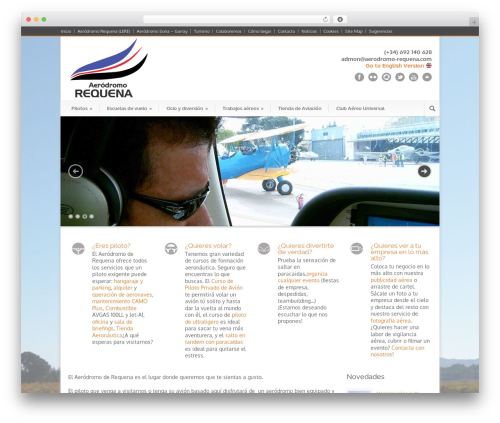 Modernize WordPress theme - aerodromo-requena.com