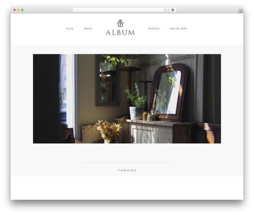 Template WordPress Album - albumantique.com