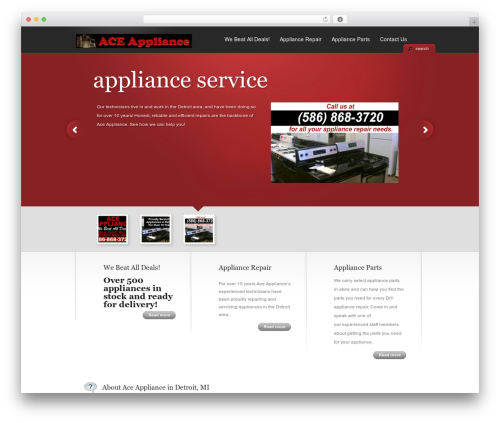 TheCorporation WordPress page template - aceappliancedetroit.com