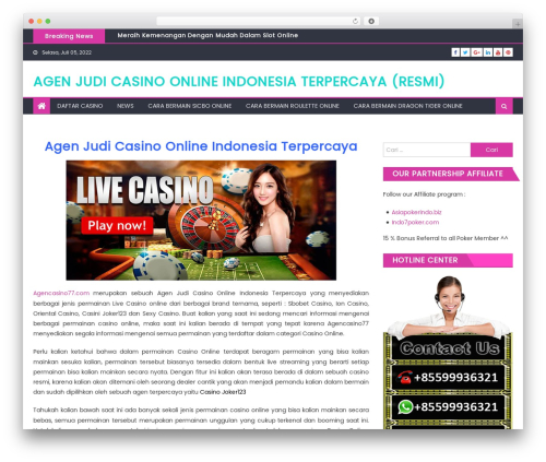 Theme WordPress Eggnews - agencasino77.com