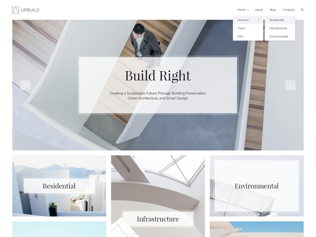 Upbuild personal blog WordPress theme