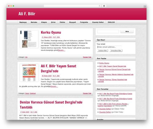 zeeNews newspaper WordPress theme - alifbilir.com