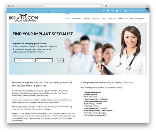 WordPress baslider plugin - implants.com