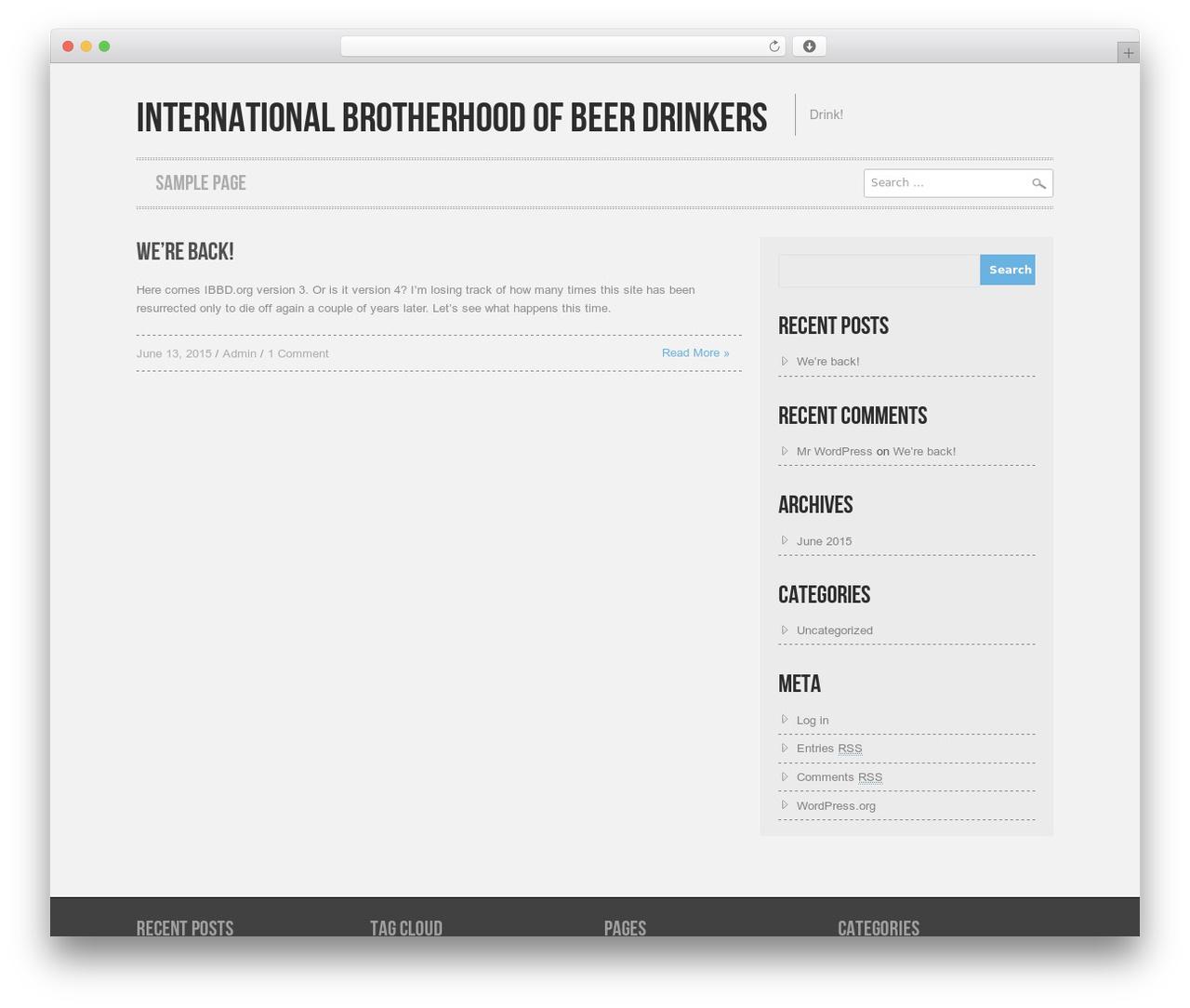Best WordPress template Hannari - ibbd.org