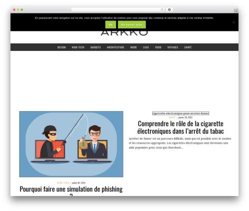 Best WordPress template Yorkpress - arkko.fr