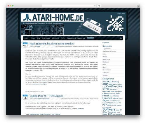BlueMoD top WordPress theme - atari-home.de