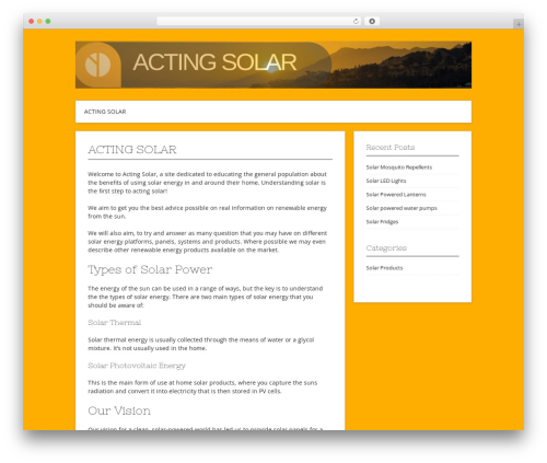 Contango WordPress blog theme - actingsolar.com