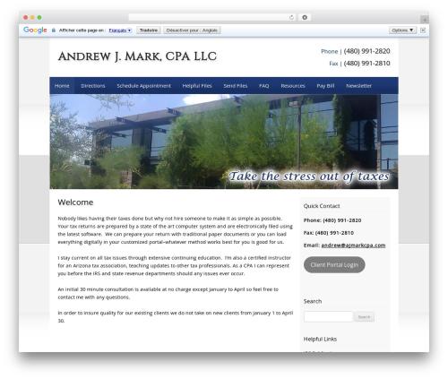Customized template WordPress - ajmarkcpa.com