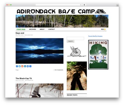 Cutline 3-Column Right WordPress magazine theme - adirondackbasecamp.com