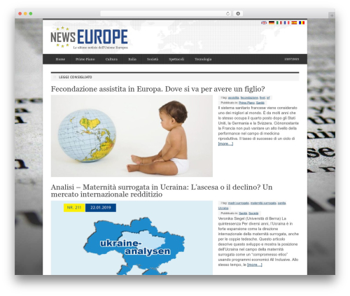 deFacto WordPress news template - it.newseurope.info
