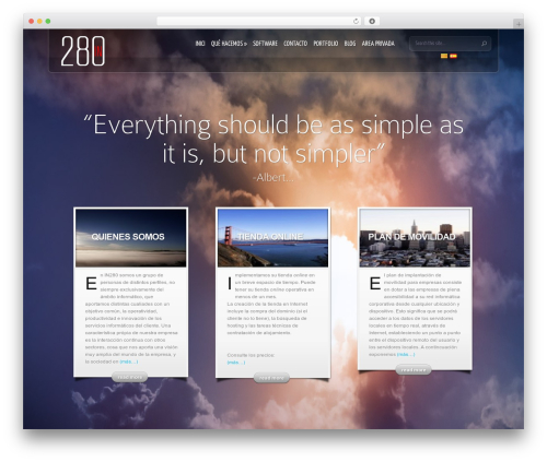 InStyle WordPress page template - in280.com
