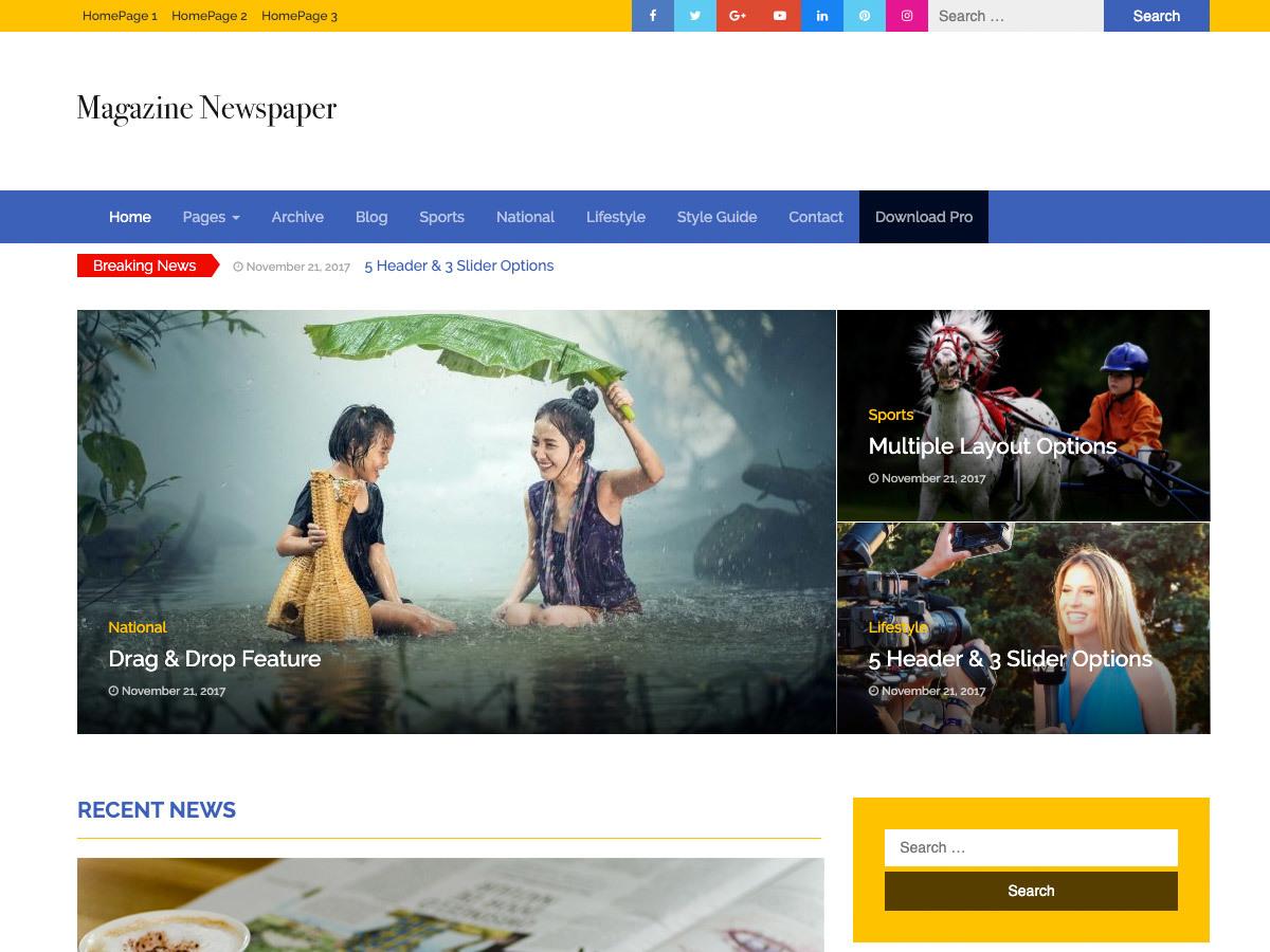 Magazine Newspaper newspaper WordPress theme