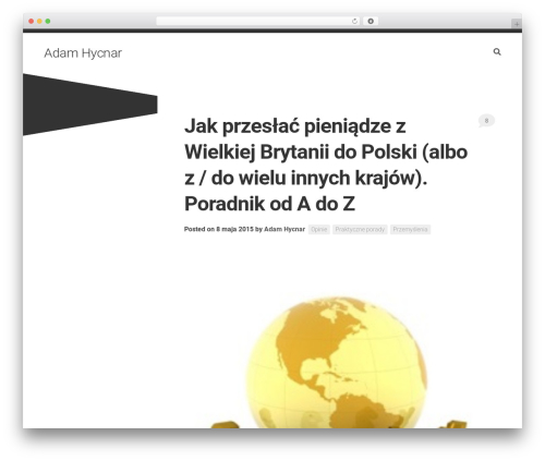 Minimer WordPress page template - adamhycnar.pl