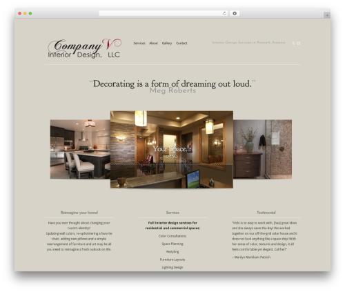 Modest company WordPress theme - inspired-dwellings.com