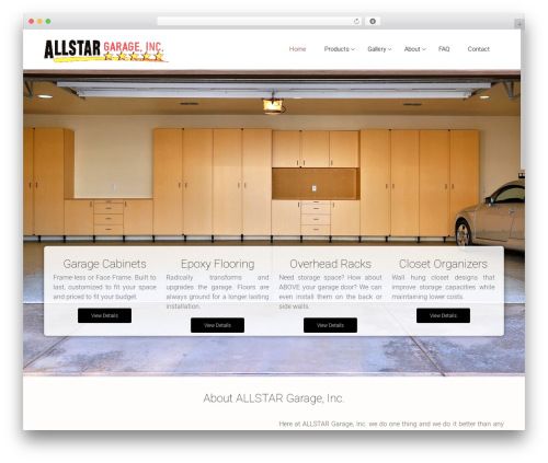 Satellite7 WordPress template - allstargarage.com