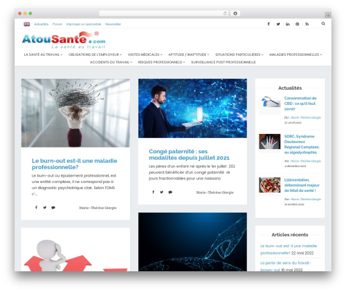 Theme WordPress AtouSante - atousante.com