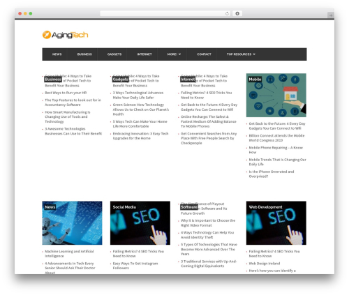 UrbanNews WordPress magazine theme - agingtech.com