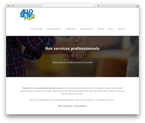 WordPress website template Oshin - alloserv.fr