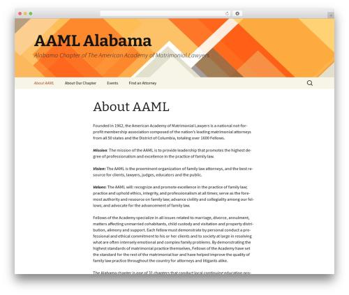 Best WordPress theme Twenty Thirteen - aamlalabama.com
