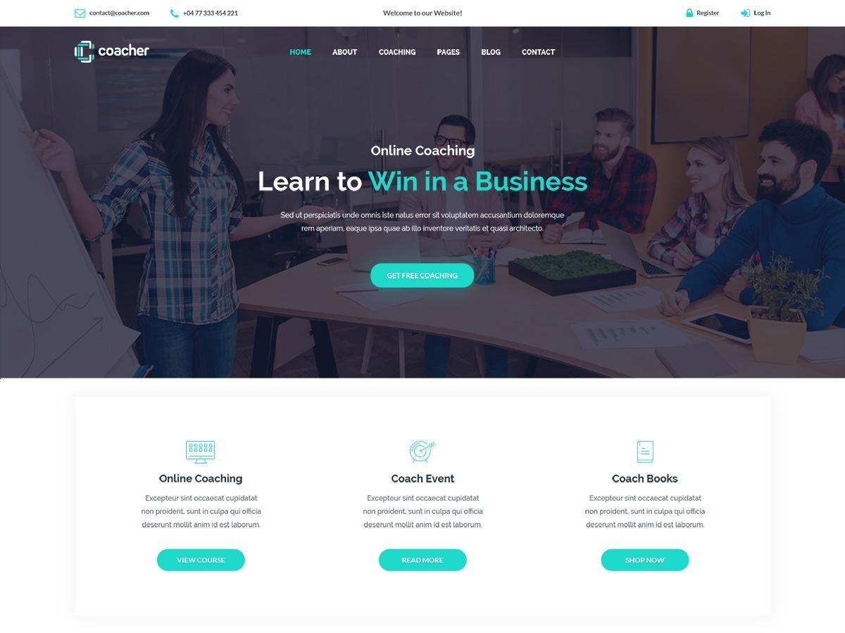 Coacher WordPress theme