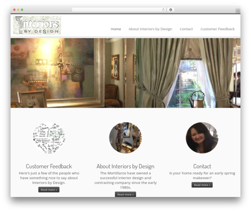 Customizr free WordPress theme - interiorsbydesign.interiorwizardry.com