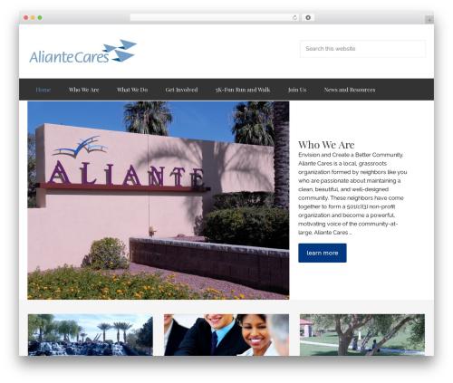 Enterprise Pro Theme WordPress page template - aliantecares.org
