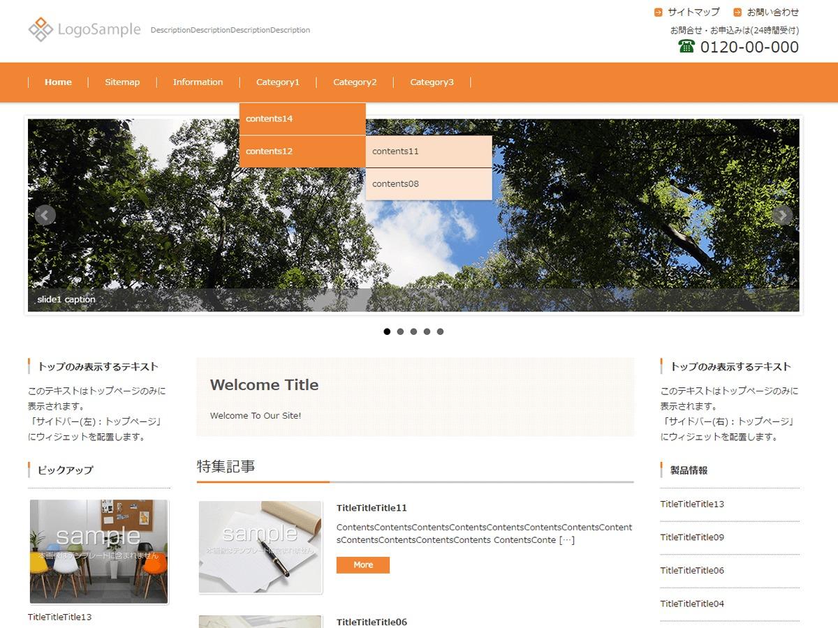 FSV BASIC CORPORATE ORANGE company WordPress theme