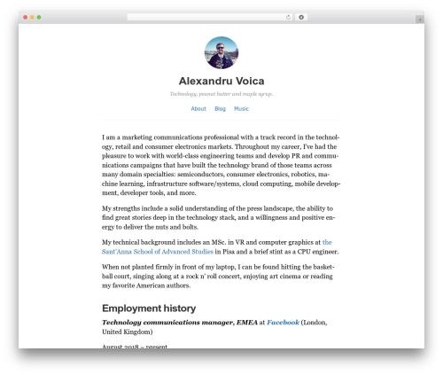 Independent Publisher best free WordPress theme - alexvoica.com