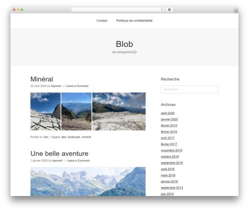 Omega best free WordPress theme - inmymind.fr