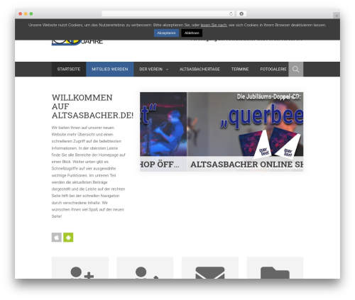 Planer best WordPress theme - altsasbacher.de
