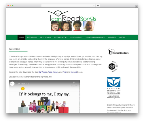 Pure & Simple theme WordPress - icanreadsongs.org