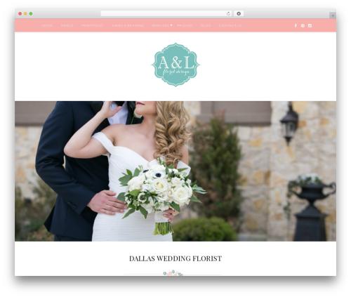 Quinn WordPress wedding theme - aandlfloraldesign.com