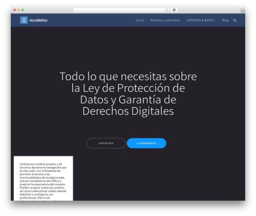 TheSaaS best WordPress template - ayudaleyprotecciondatos.es