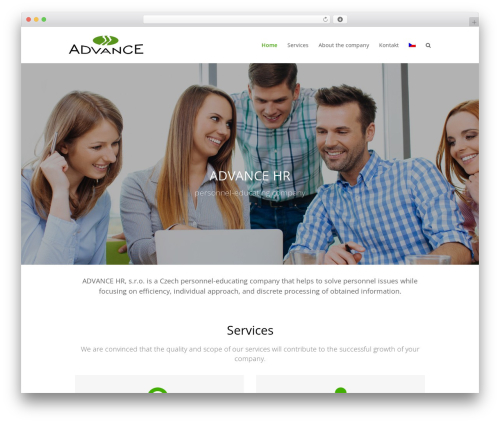 Total WordPress theme - advancesro.cz