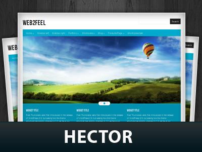 WordPress template Hector