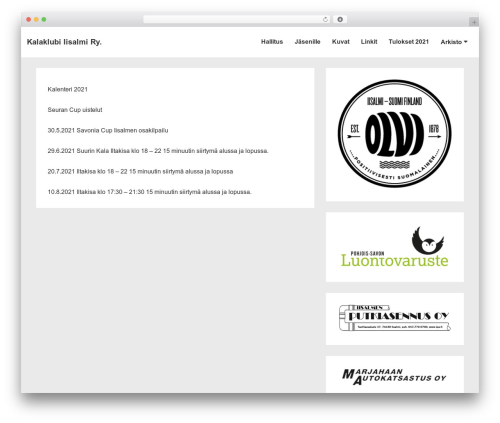 WordPress template Responsive - iisalmenkalaklubi.net