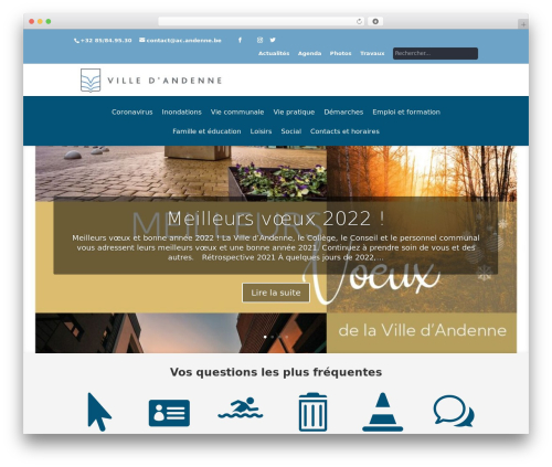 WordPress theme Andenne Child - andenne.be