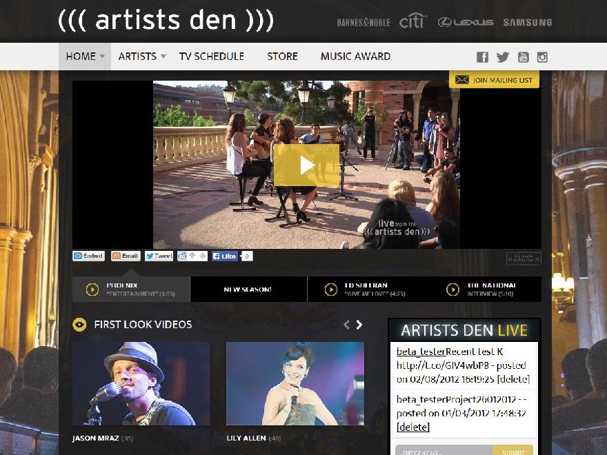 WordPress theme ArtistsDen.com