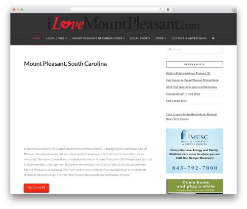 WordPress theme X - ilovemountpleasant.com