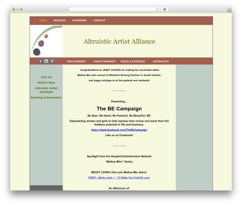 BLANK Theme WordPress theme - altruisticartistalliance.com