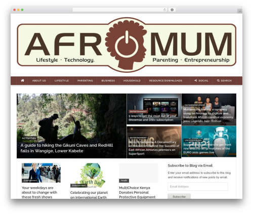 Codilight best WordPress theme - afromum.com