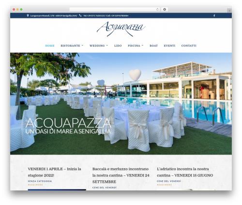 Grand Restaurant WordPress page template - acquapazza.org
