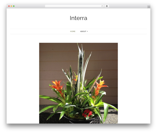 Pho free WordPress theme - interraplants.com