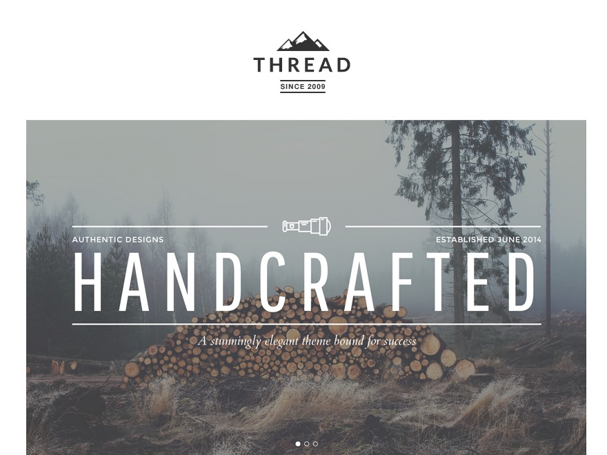 Thread personal blog WordPress theme