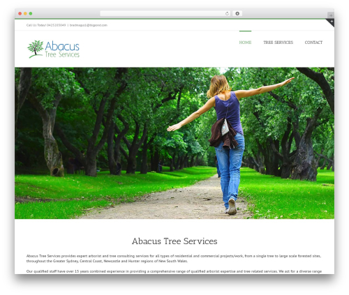 WordPress template Avada - abacustreeservices.com