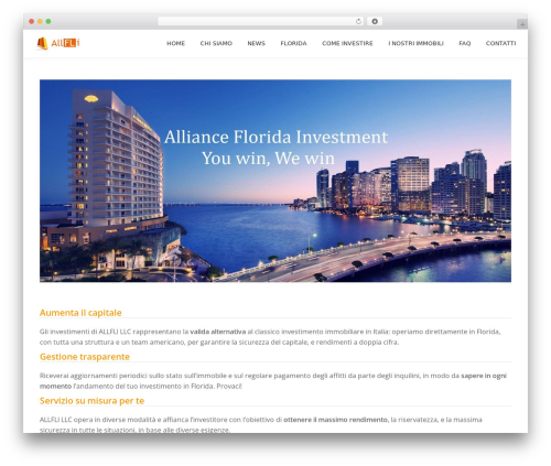 WordPress theme Parallax One - allfli.com