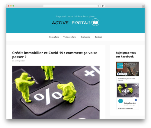 WordPress theme statement - activeportail.fr