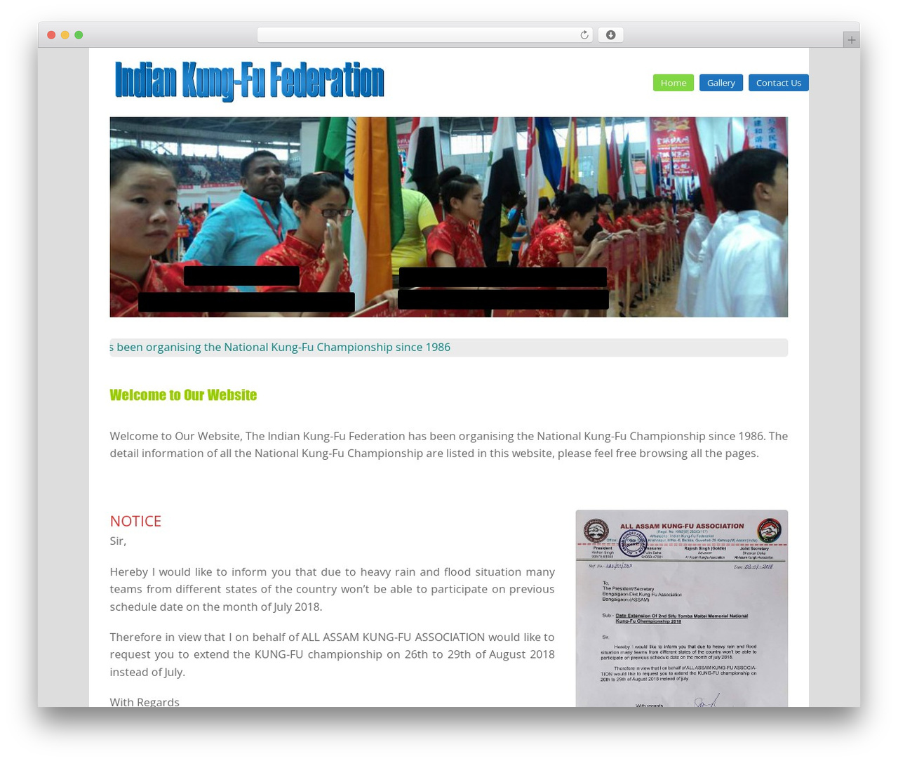 WordPress website template Total - indiankungfufederation.com