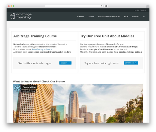 WPLMS WP template - arbitragetraining.com