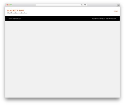 AccessPress Parallax free website theme - alacritysoft.com